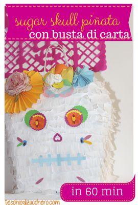 Sugar Skull Piñata - Pignata teschio messicano http://teschiodizucchero.com/2015/07/26/sugar-skull-pinata-pignata-teschio-messicano/ Un'alternativa alle pignatte tradizionali messicane... fatta con una busta di carta.