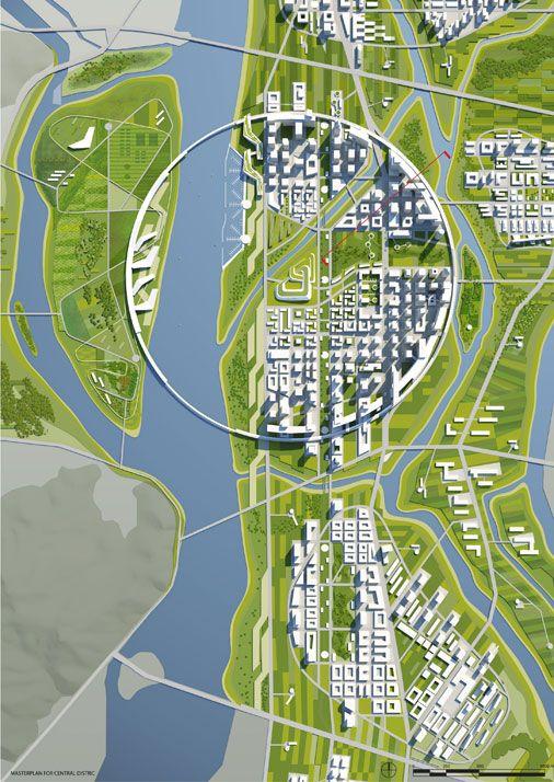 architecture site plan _ Busan River City | © UnitedLAB - Architecture…