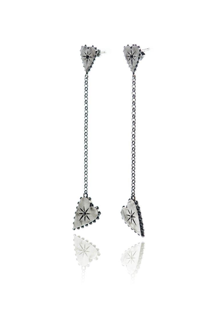 New silver earrings with studs! #heart #jewels #ottojewels