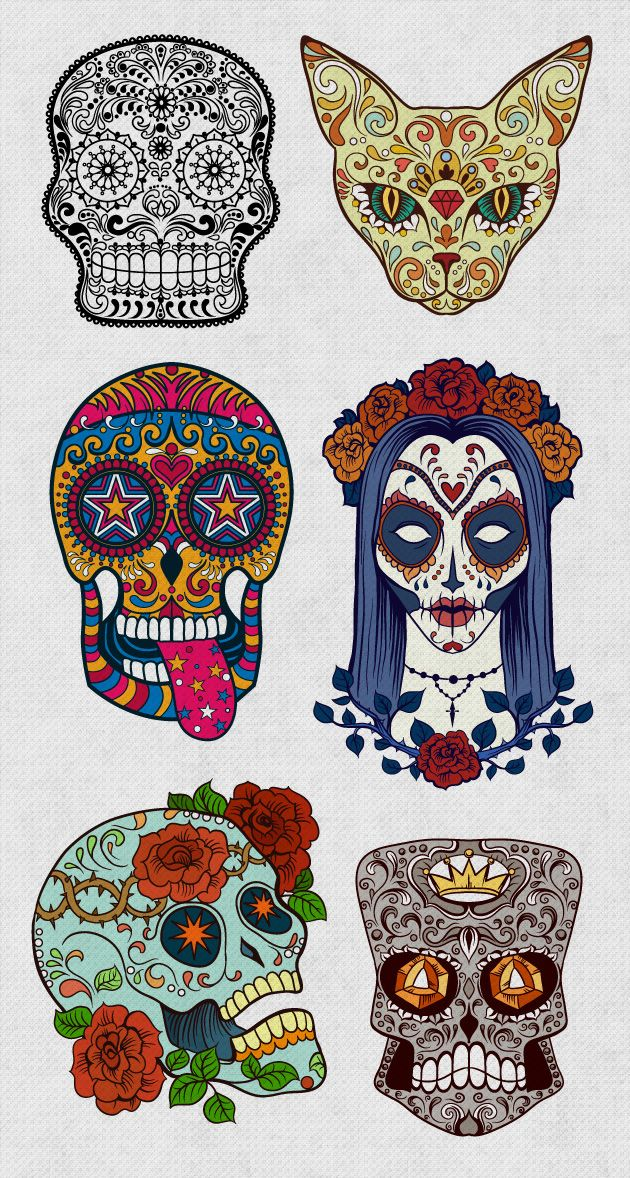 Skull With Jaw Dropped: Sugar Skulls Giga Set: 180 Jaw-Dropping Vectors For Just