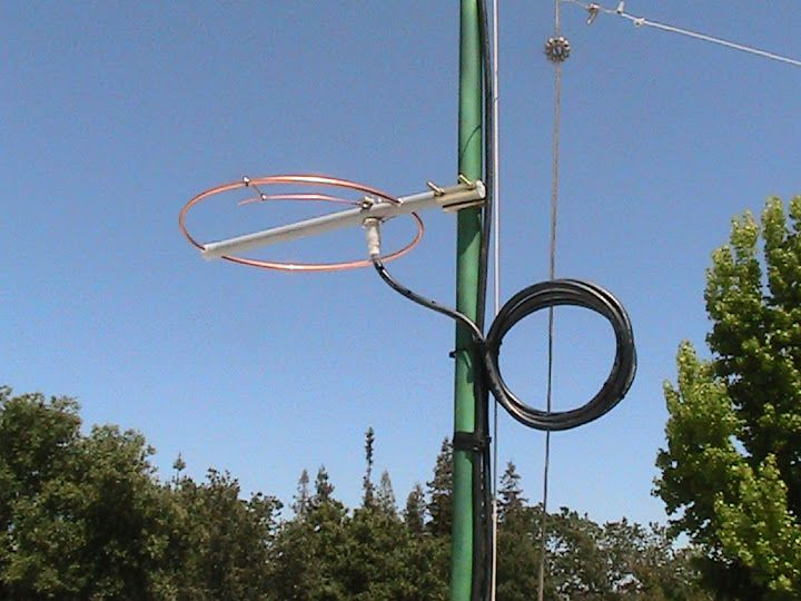 20 May 2012 - The 144 MHz                       halo antenna was mounted at 80 inches (1 λ) above                       the roof and fed with Belden 8214 foam type RG-8/U                       coaxial cable. At first, the antenna resonance was                       unstable and sensitive to the routing of the feed                       line until 5 turns of it were wound to form a 8                       inch diameter choke balun. The standing wave ratio                       was then…