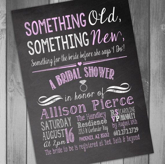Bridal Shower Invitation Chalkboard Bridal Shower by CLaceyDesign, $15.00