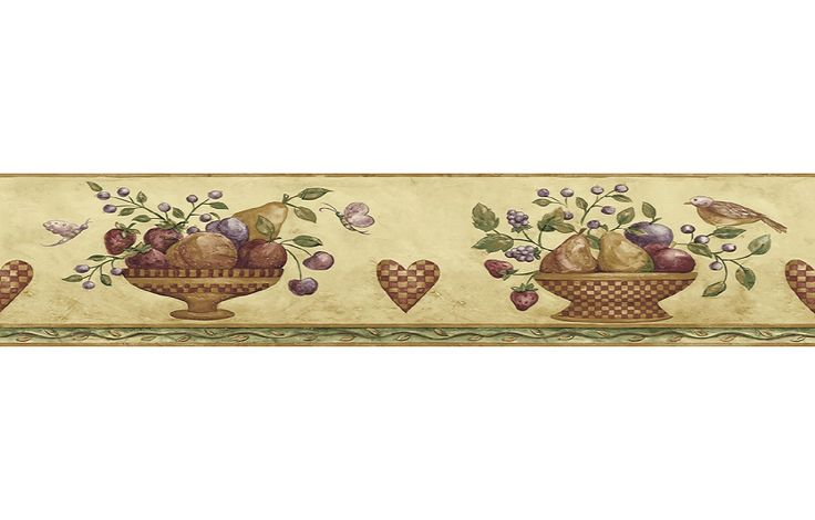 primitive wallpaper border for kitchen - photo #39