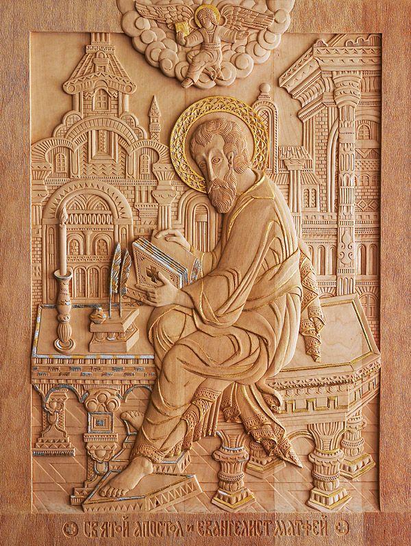 «Св. Евангелист Матфей», 2006 г., 76х59 см (дерево, резьба)