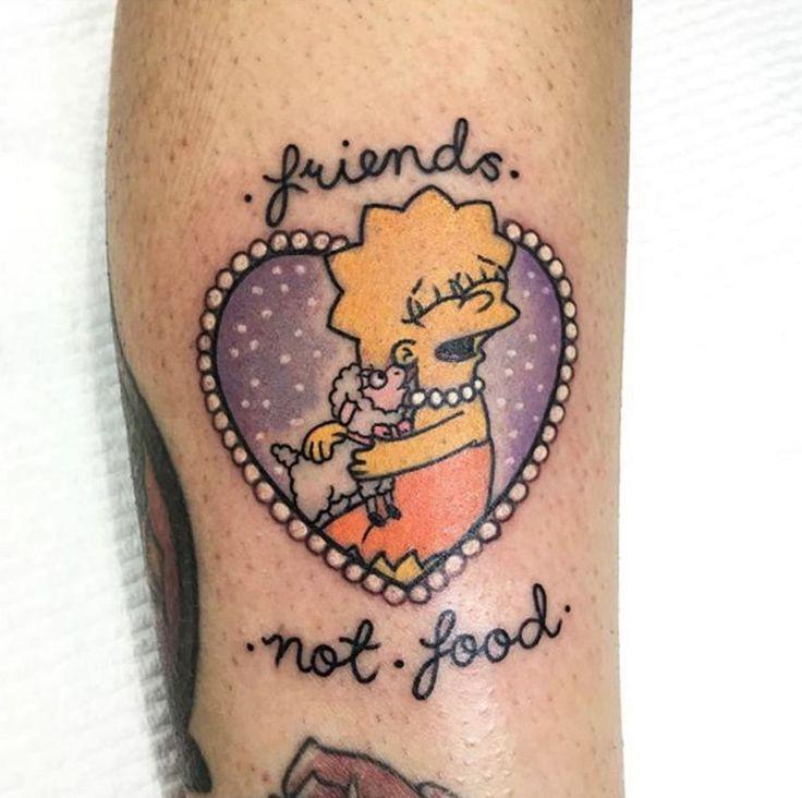Thank You Littlebodybigheart Done At Goodlucktattoo: Lisa Simpsons Heart Tattoo