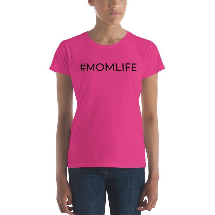 #MOMLIFE - Women's short sleeve t-shirt - BLK