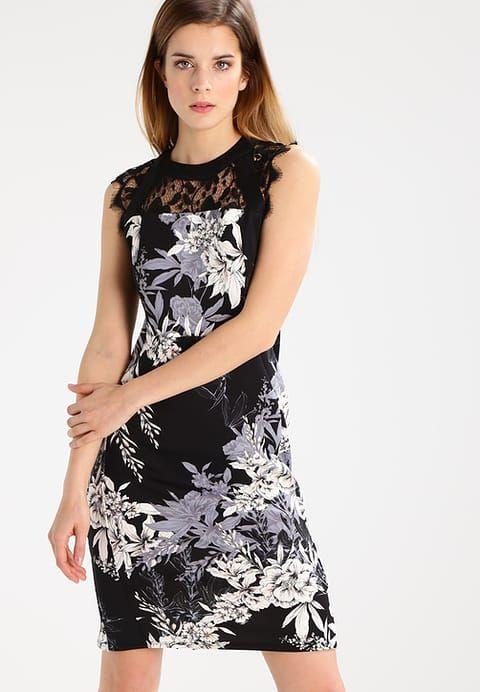Dorothy Perkins Petite FLORAL  - Sukienka etui - black za 209 zł (22.05.17) zamów bezpłatnie na Zalando.pl.