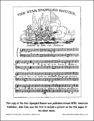 star spangled banner coloring pages - photo#9
