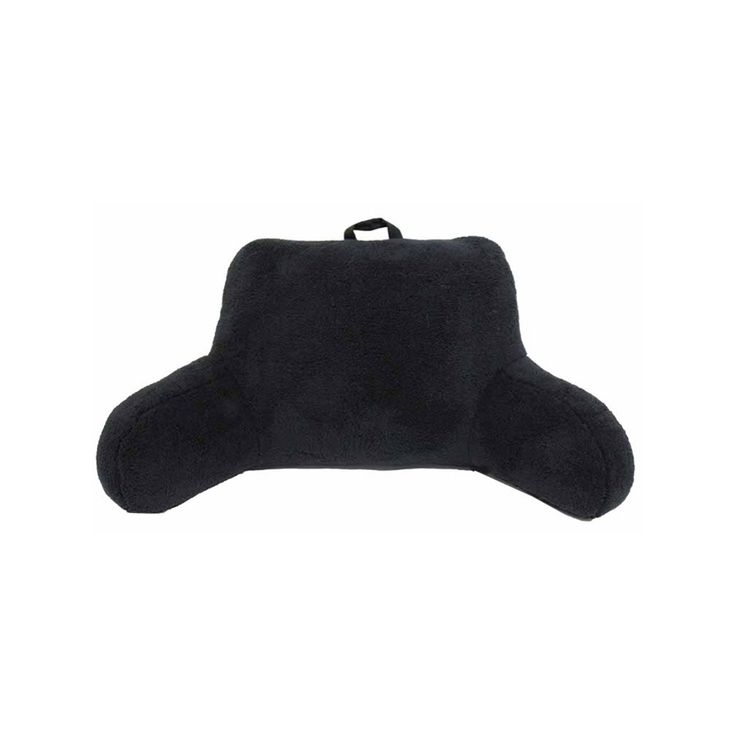 Simple By Design Microfiber Sherpa Backrest Pillow, Black