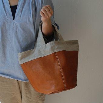 [Envelope Online Shop] linen and leather handbag KOHORO KOHORO goods