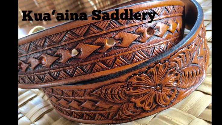 This is a Polynesian design done by craig cunningham Kua Aina Saddlery