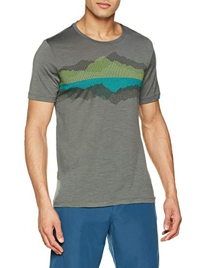 fa1f2a9a80e Icebreaker Merino Men's Tech Lite Short Sleeve Crewe Graphic Athletic T  Shirts, Cook Reflected/