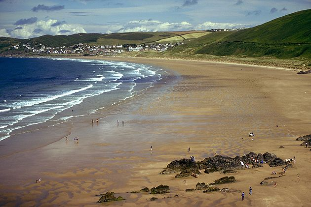 Woolacombe Sands, North Devon, I was baptized here in the hotel swimming pool.... a long time ago!