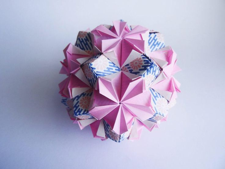 A personal favorite from my Etsy shop https://www.etsy.com/ca/listing/519251686/pink-flower-ballorigami-kusudamaunique