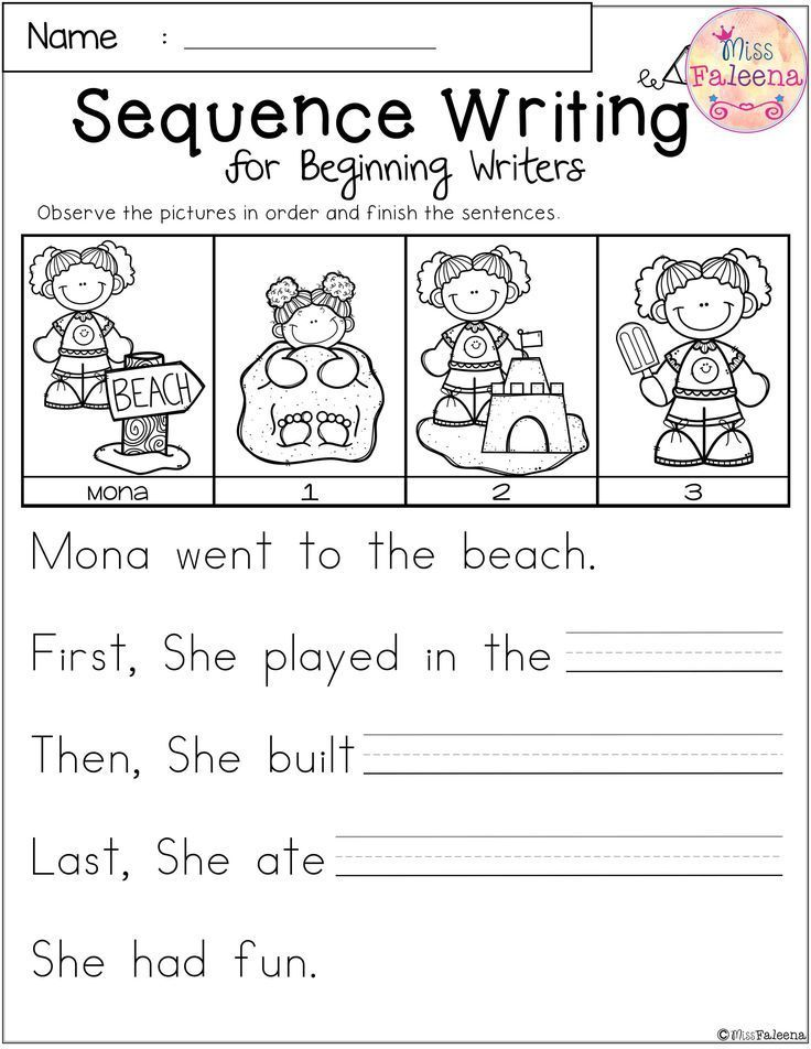 Free Sequence Writing For Beginning Writers Sequencing Worksheets Sequence Writing Kindergarten Sequencing Worksheets Sequencing practice in kindergarten and