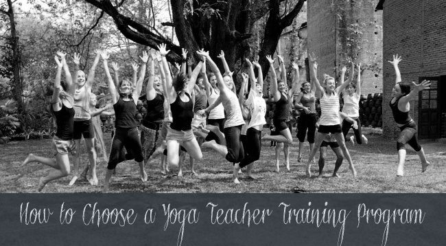 Yoga teacher training was one of the most difficult things I've ever done  (which is probably why we're all jumping for joy in the above pic on the  last day of training). But it was also one of the best things I've done for  myself. Recently, I've received a few emails asking for tips on how to  choose a yoga teacher training program, so I came up with these six things  to consider...