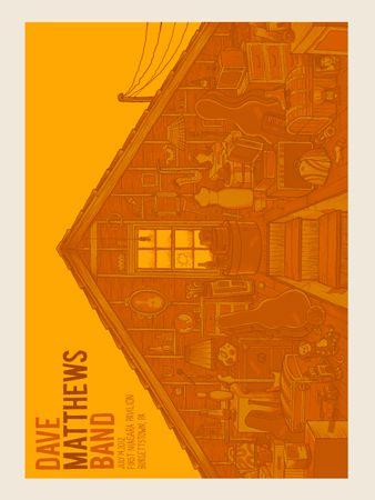 dmb -burgettstown n2 attic AP « Dave Matthews Band Posters « Methane Studios