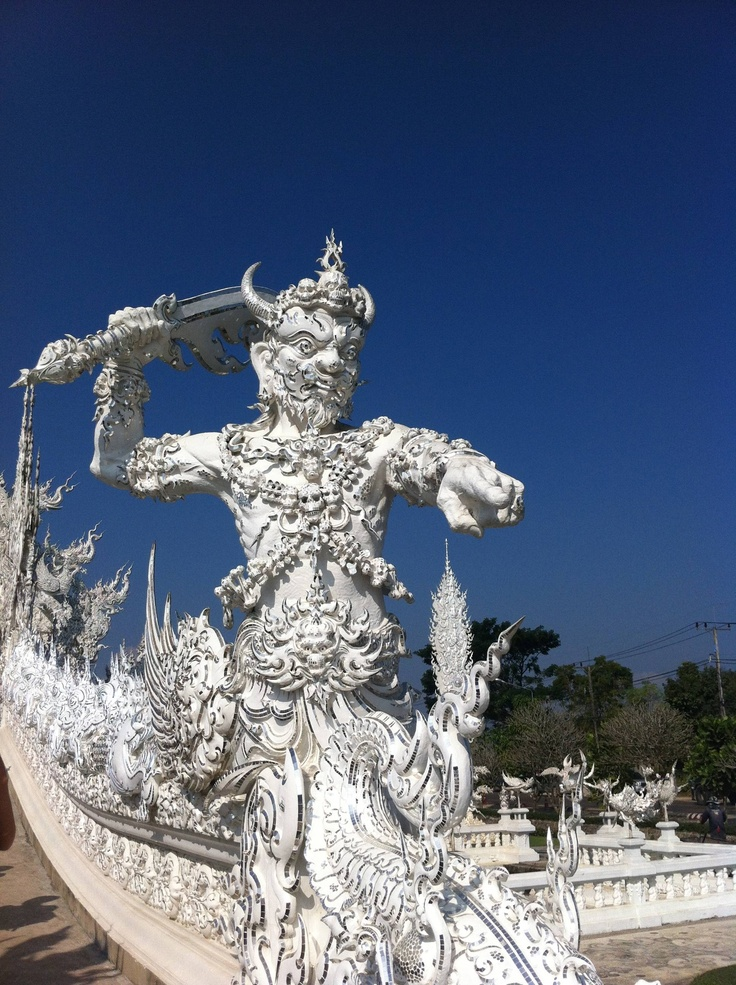 Smiter of Souls - Protector of the temple entrance of Wat Rong Khun Temple - Chiang Rai, Thailand