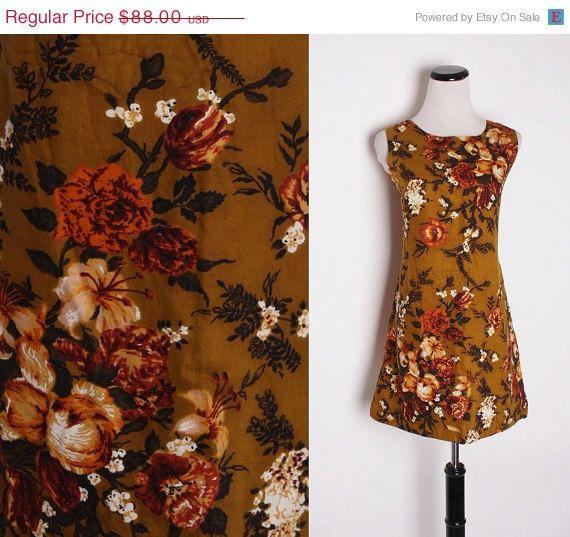40 Off SALE  Vintage 1960s Mod Rustic Autumn Tapestry von aiseirigh, $52.80