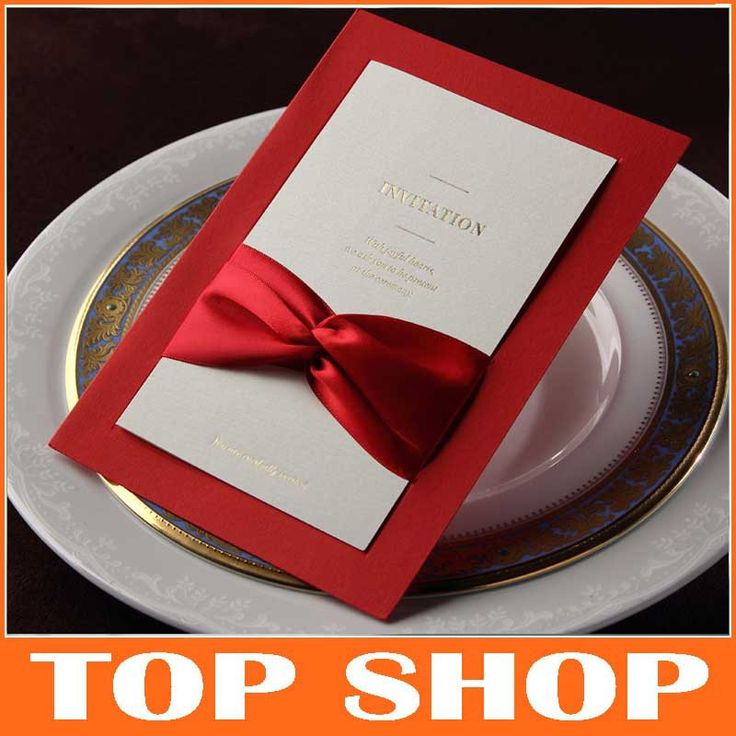 Billige Hochzeitseinladung 128*185mm Mit Rotem Band Hochzeit Liefert Laser  Geschnitten Einladungen Elegante In Von
