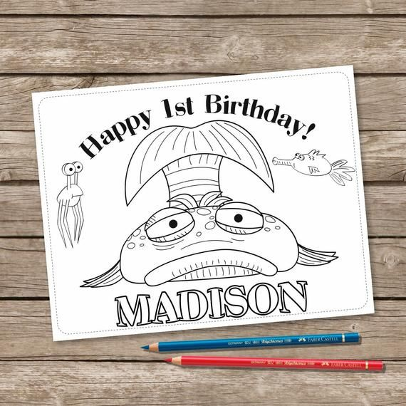 Pout Pout Fish 6 Coloring Pages Pout Pout Fish Birthday Coloring Printable Personalized Set Of 6 Coloring Page Pout Pout Fish Birthday Printable Personalized