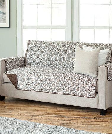 Chocolate Reversible Sofa Protector #zulilyfinds