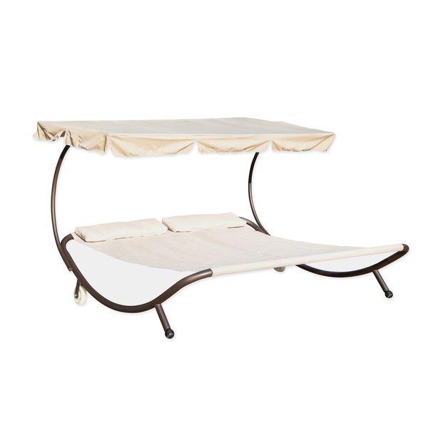 Trademark Innovations Cream Double Hammock with Canopy $199.99