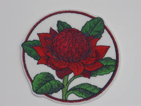 Flower Iron-on Patch Embroidered Patch Sew-On Patch Elegant