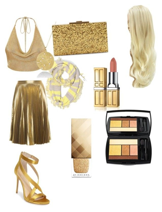 yellow/gold shopping cute by chianna-rodgers on Polyvore featuring polyvore fashion style A.L.C. Imagine by Vince Camuto Halston Heritage Aqua Lancôme Burberry clothing
