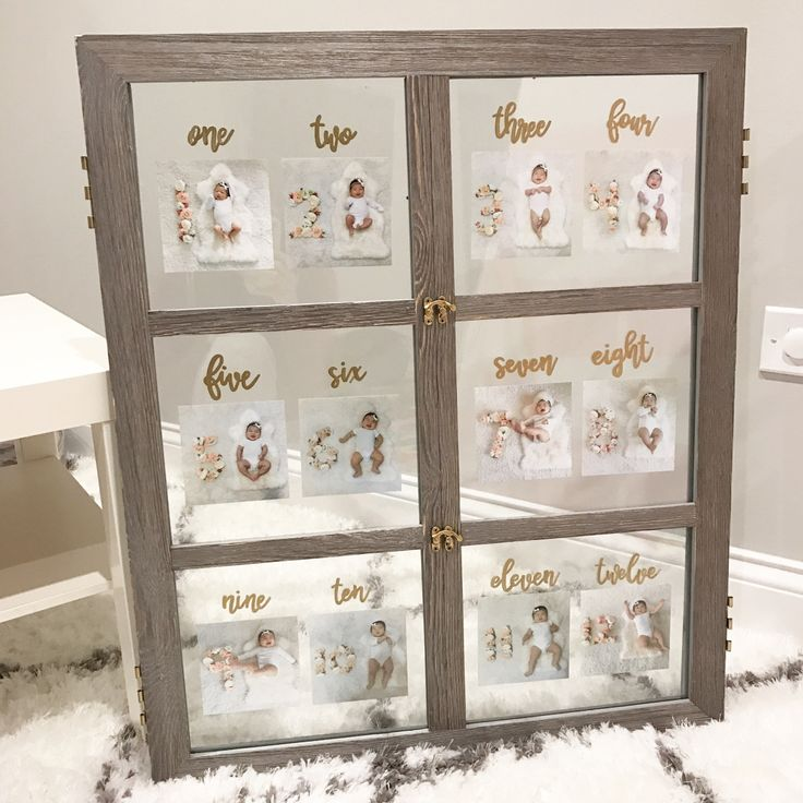 Monthly Baby Pictures | DIY Window Picture Frame (Olivia Wonders - Lifestyle Blog)