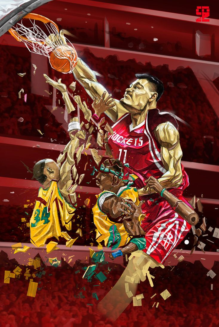 Yao Ming by A-BB on DeviantArt