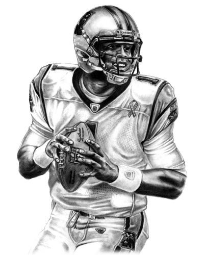 printable cam newton coloring pages - photo#4
