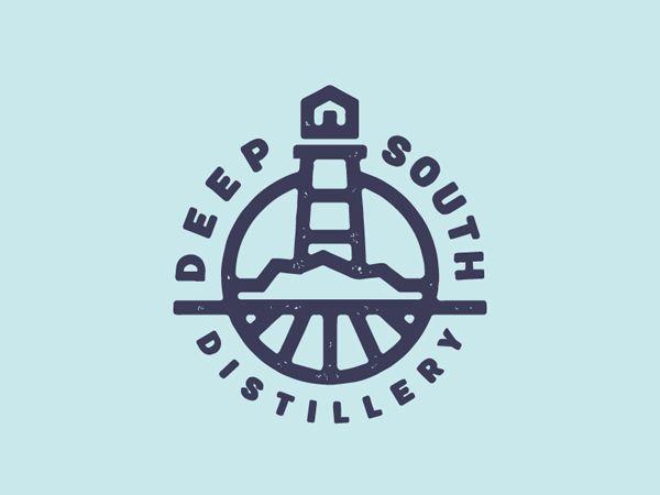 Deep South Distillery by Giovanni Tondini #lineart #linelogos #logodesign…