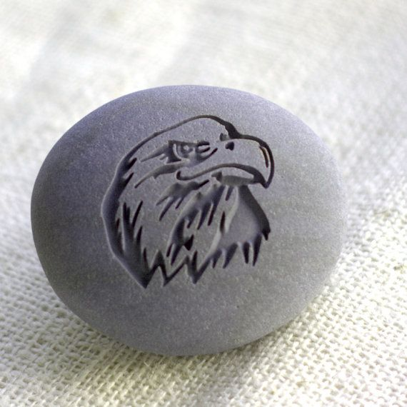 Eagle - Home Decor paperweight collections - Ready to Ship - engraved stone by sjEngraving