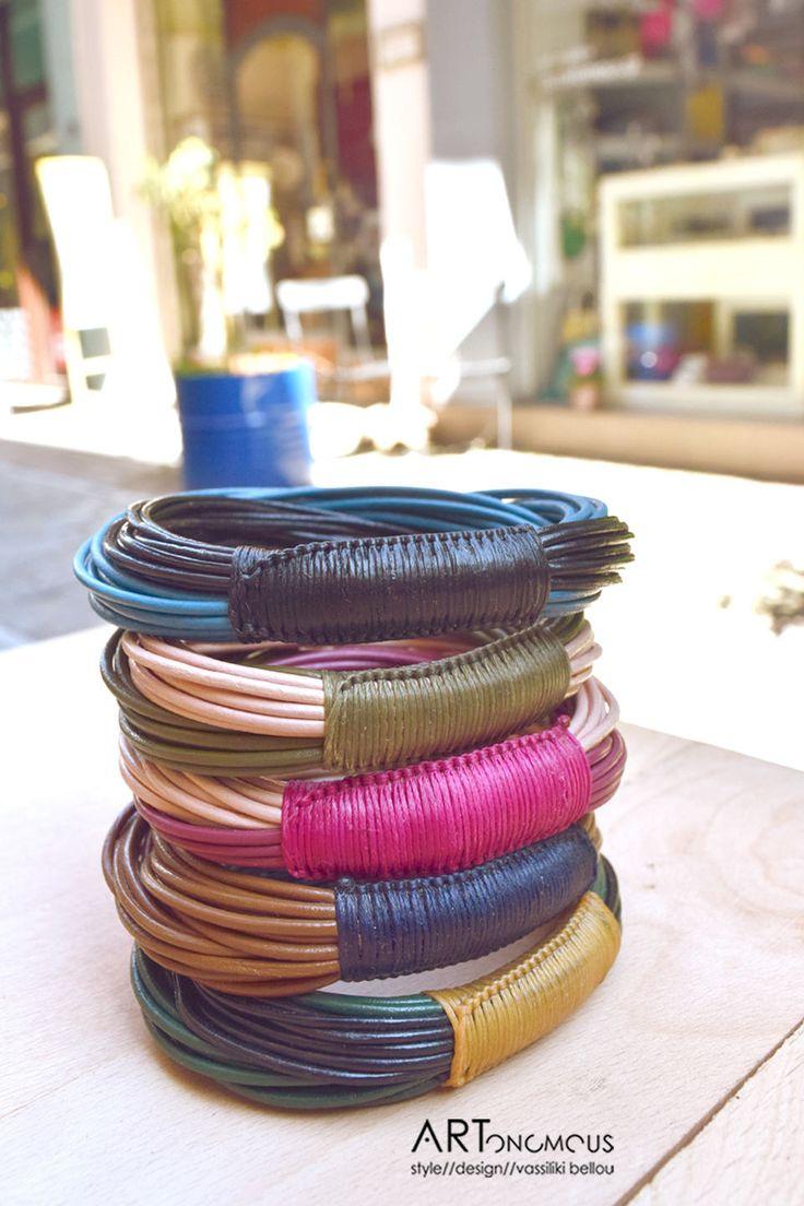 Leather bracelets / artonomous.gr
