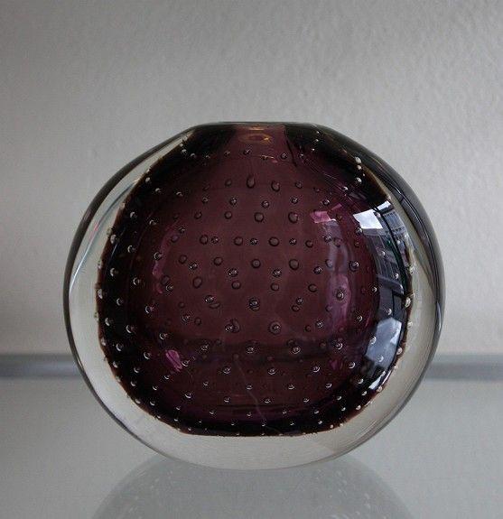 Vase. Hermann Bongard. 1955. Siste kunstglass Bongard tegnet for Hadeland.