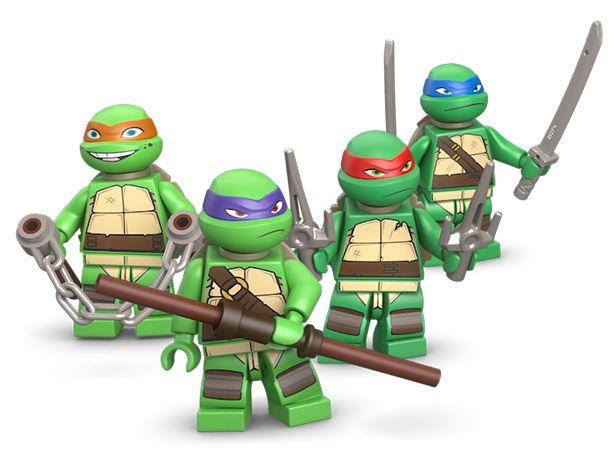 how to build lego ninja turtles