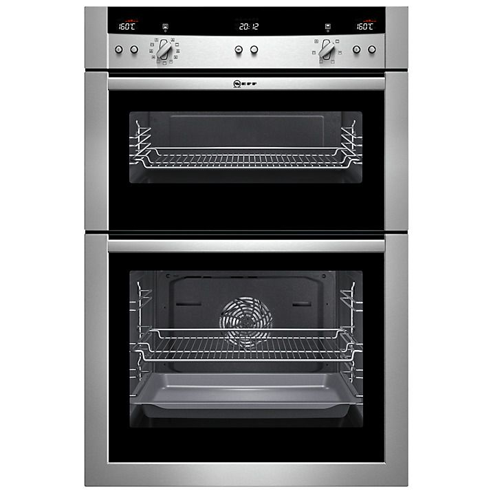 Buy Neff U15E52N3GB Double Built-In Electric Oven, Stainless Steel Online at johnlewis.com
