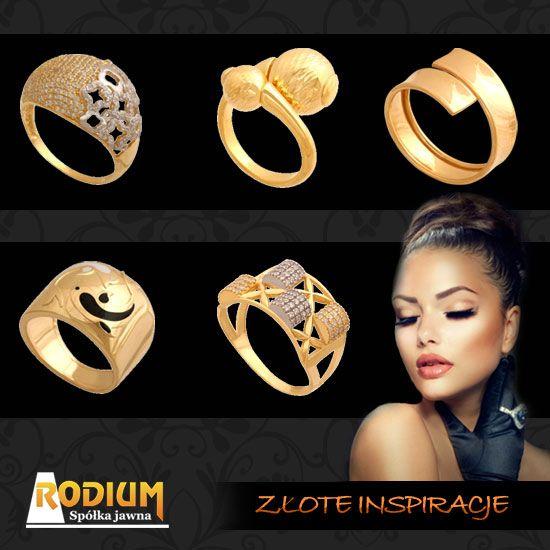 Złote pierścionki, złoto nie tylko na wieczorne wyjście.