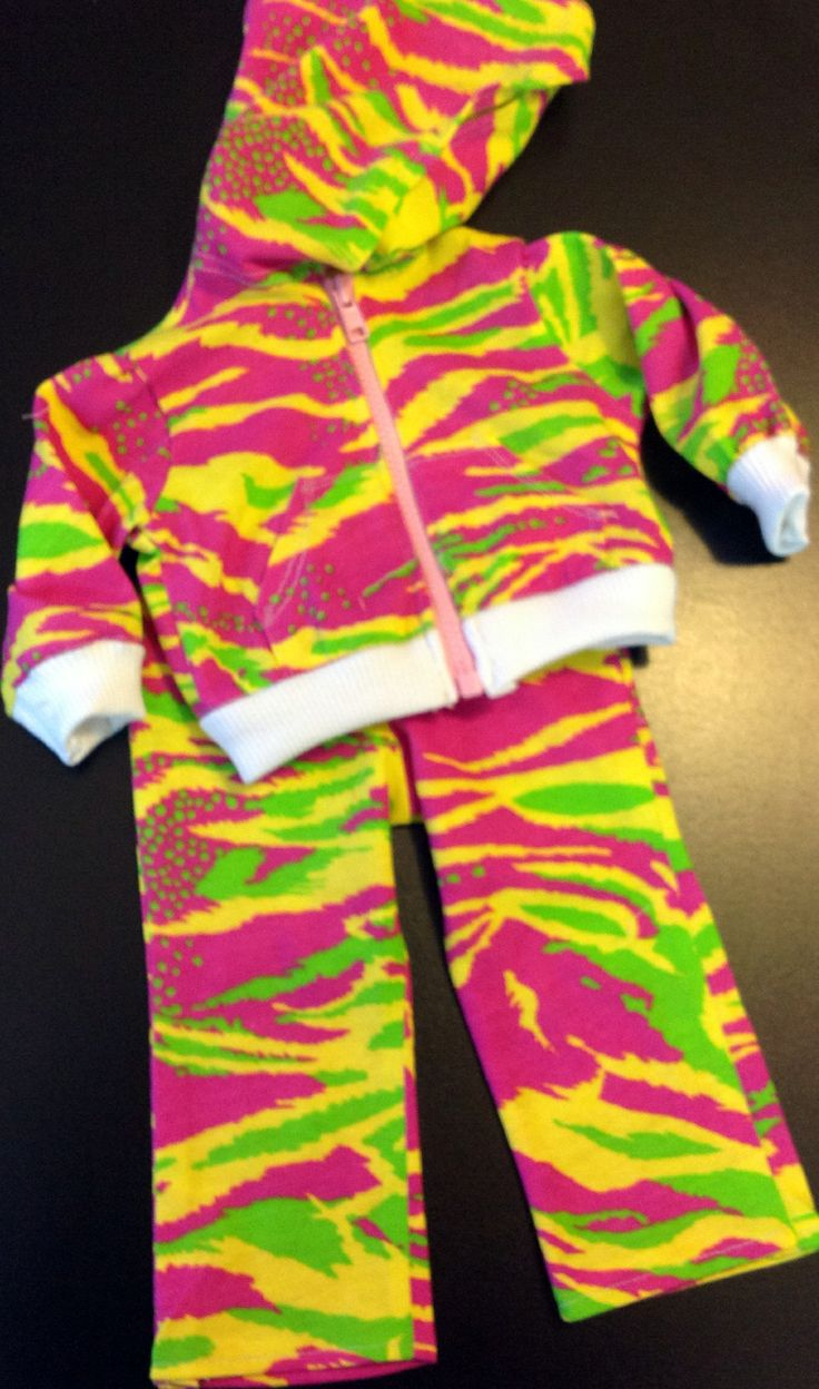 Bright dance sweats and jacket with working zipper!