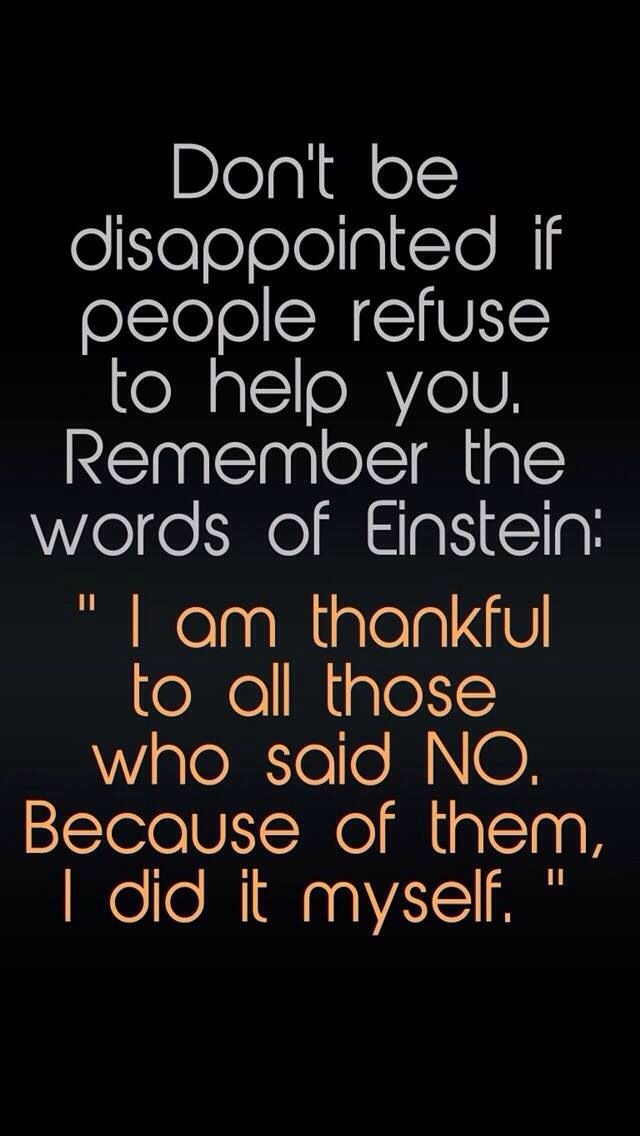 True to words by Einstein