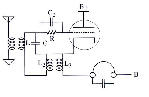 armstrong one valve regenerative radio circuit 1920s