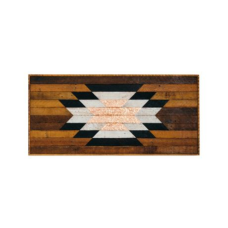 A classic Southwest motif in charred reclaimed wood and textured copper. Need we say more? This Lenore accent piece is guaranteed to steal glances in your ruggedly refined living space. Made in Nashvil... Find the Lenore Wall Art, as seen in the Urban Cowboy Nashville Collection at http://dotandbo.com/collections/urban-cowboy-nashville?utm_source=pinterest&utm_medium=organic&db_sku=122833