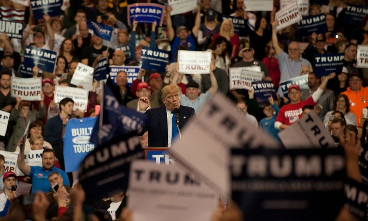 Republican frontrunner renews verbal assaults on party rivals and tells captive audience in Cleveland, Ohio, to let ejected demonstrators 'rot'