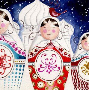 Aquarelle - Pour l'anniversaire… - Etoile - Butterfly - Piou - China - Matriochka - Les petits crayons