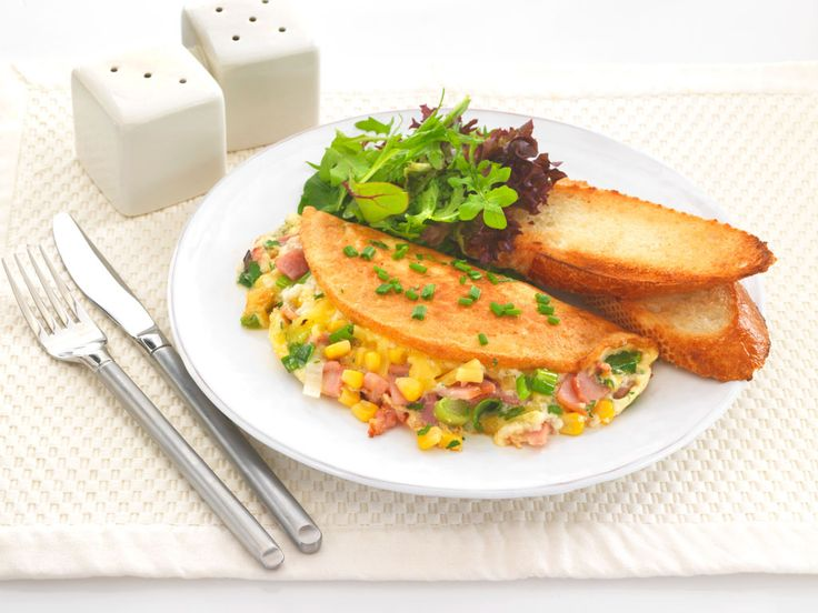 Souffle Omelette with Bacon, Cheese and Sweet Corn - Sunny Queen Farms