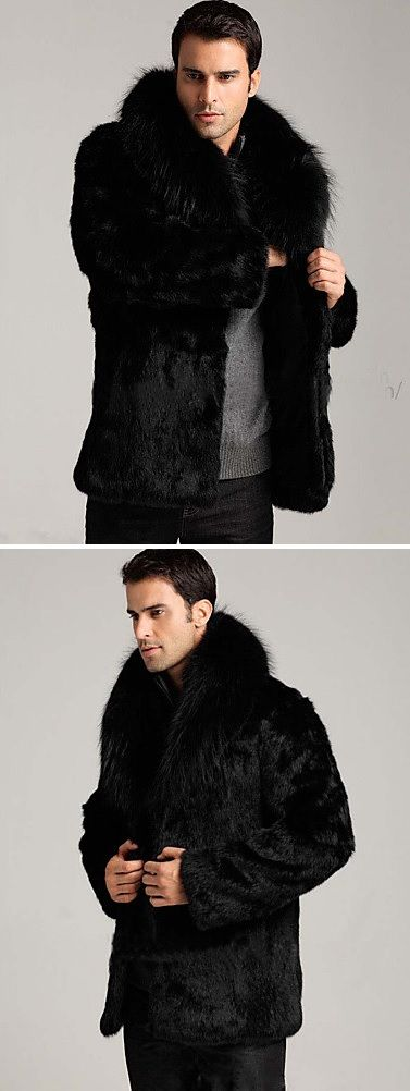 Who says men don;t like fur? Black fur coat for stylish men. Like it? Just $56.99 Enjoy up to 85% OFF on all categories during our 11.11 SALE