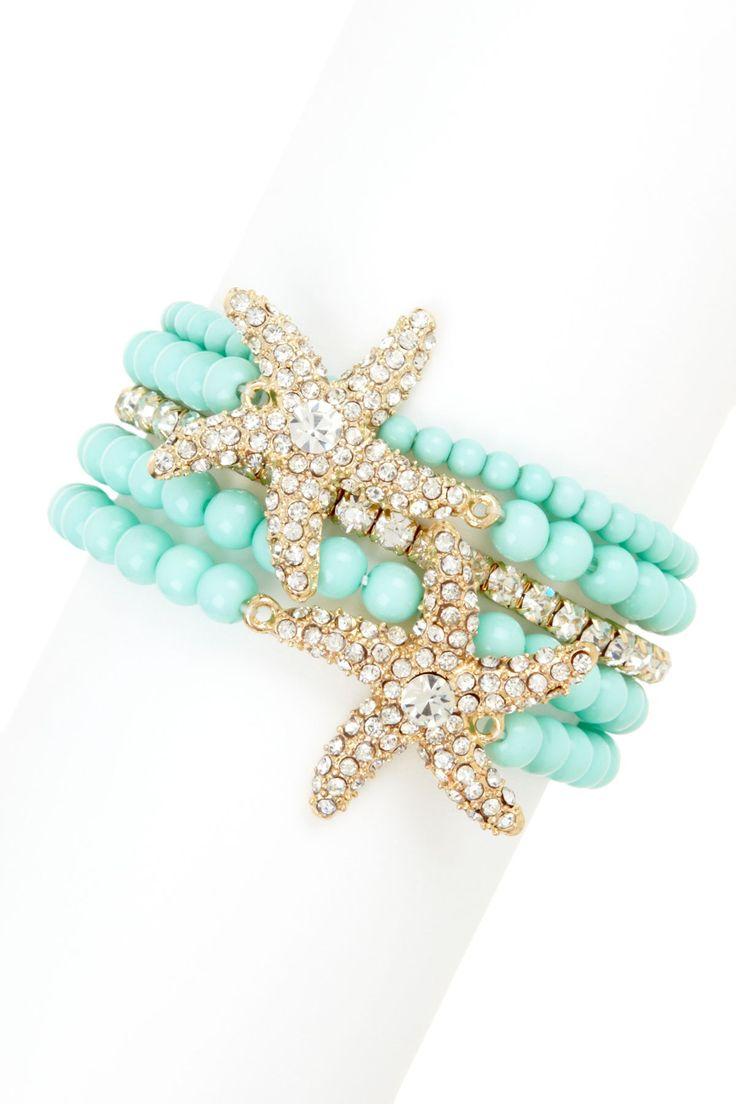Ariel Starfish Bracelet Set
