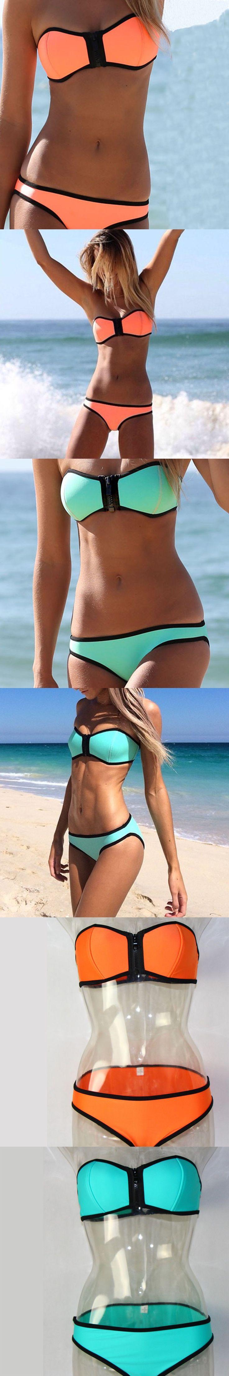 1528 best images about neoprene bikini on pinterest triangle swimwear push up bikini and. Black Bedroom Furniture Sets. Home Design Ideas