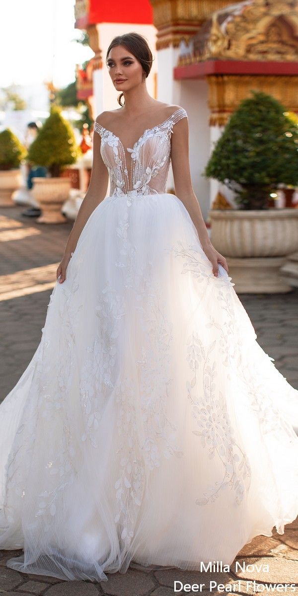 Milla Nova Wedding Dresses 2020 Milla By Lorenzo Rossi My Deer Flowers Part 6 In 2020 Amazing Wedding Dress Short Lace Wedding Dress Milla Nova Wedding Dresses